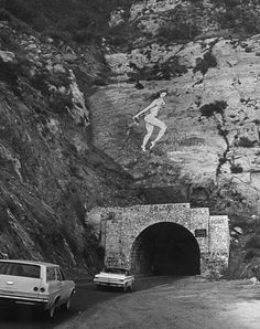The Pink Lady was a short-lived painting on a rock face near Malibu, California in 1966. The painting was created by Lynne Seemayer, a paralegal from Northridge, California, and depicted a 60-foot (18m) tall, nude woman in a running position.