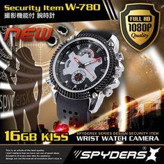 My impressions 私の感想 : 超小型カメラ 小型ビデオカメラ 腕時計型 スパイカメラ スパイダーズX (W-780) フルハイビジ...