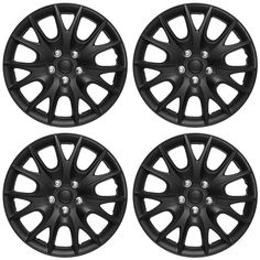 Oxgord ABS Matte Black 15-inch Hub Caps (Set of 4) Honda Passport