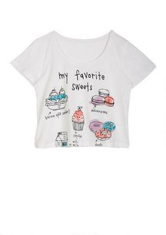 My Favorite Sweets Tee - Messages - Graphic Tees - Tops - dELiA*s