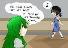 Yandere-chan and Midori Yandere Manga, Yandere Girl, Anime Manga, Yandere Simulator Characters, Yandere Simulator Memes, Sims Memes, Funny Memes, Hilarious, Yendere Simulator