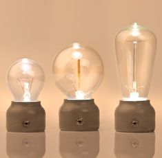 Pure Mold simulated incandescent LED lamps, by BMIX, Japan.