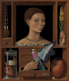 Reliquary for Saartjie  2010  18 in. x 21 in.  Oil and egg...