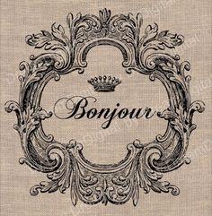 French - bonjour: hello.