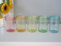 DIY Multicolour jars