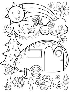 Free Coloring Page From Thaneeya McArdles Happy Campers Book
