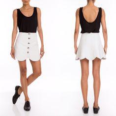 #manokhi white leather skirt available now on www.manokhi.com