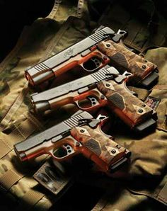 Kimber Family - ahhh these are so expensive but they're my favs! The M1911 are better though.