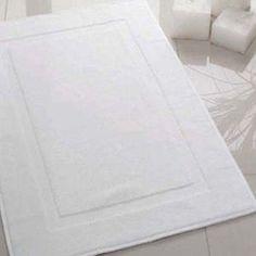 3pc New White P/c Blend Hotel Bath Mats
