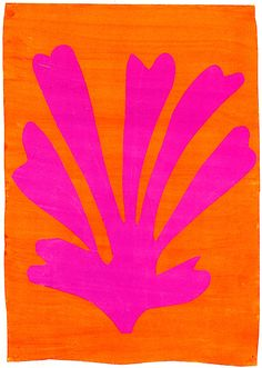 """dappledwithshadow: """" Palmette Henri Matisse circa 1947 Private collection Painting - gouache Height: 64 cm (25.2 in.), Width: 45 cm (17.72 in.) """""""