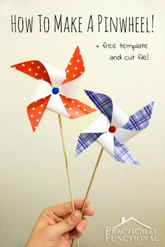 How To Make A Pinwheel {+ Free Template} | Practically Functional