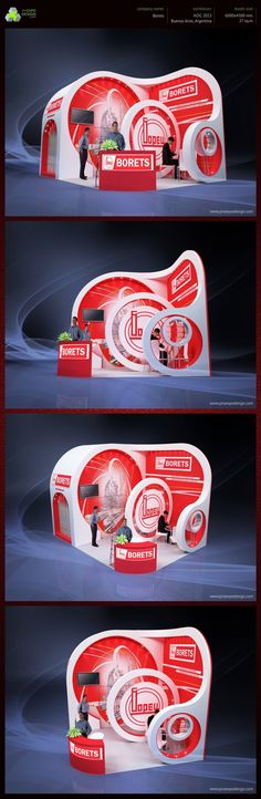 BORETS exhibition booth design on Behance