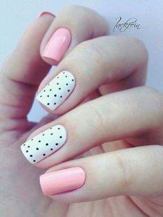 22 Cute Polka Dots Nail Art Designs You Must Try