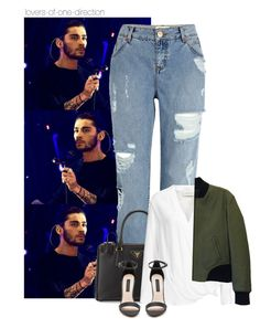 """""""You needed me"""" by lovers-of-one-direction ❤ liked on Polyvore featuring River Island, Prada, By Malene Birger, rag & bone and Forever New"""