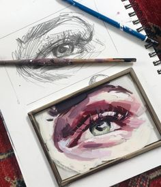 Just finishing up an instructional video for Patreon on painting eyes! Talking about painting while you paint was surprisingly hard Landscape Illustration, Illustration Art, Elly Smallwood, Artist Sketchbook, Posca, Art Music, Traditional Art, Diy Art, Art Inspo
