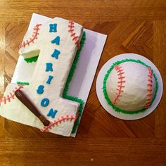 First Birthday and Smash Cake Baseball Theme