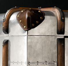 Detail of Richards' Metal Trunks  Restoration Hardware