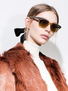 Marchesa and Tory Burch make a strong case for the hair ribbon. Hair Ribbons, Ribbon Bows, Marchesa, Tory Burch, Strong, Joy, Seasons, Sunglasses, Happy