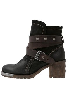 Fly London LOK Cowboy/ Bikerstiefelette black/brown Schuhe bei Zalando.de   Obermaterial: Leder, Innenmaterial: Textil, Sohle: Kunststoff, Decksohle: Textil   Schuhe jetzt versandkostenfrei bei Zalando.de bestellen!