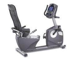 Spirit Fitness XBR95 Light Commercial Recumbent Fitness Bike with easy walk-through design.