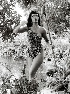 Bettie Page photographed by Bunny Yeager in 1954.