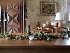 Centre de table nature avec plantes de succulentes