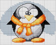 Cross-stitch Penguin ... no color chart available, just use pattern chart as your color guide.. or choose your own colors... Solo Patrones Punto Cruz (pág. 269) | Aprender manualidades es facilisimo.com