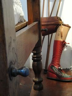 Frida Kahlo's prosthetic leg, Museo de Frida Kahlo, Mexico City