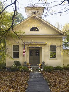 See How a Former Schoolhouse Was Turned Into a Cozy Home