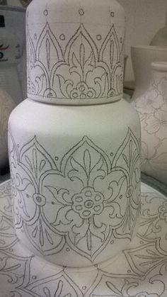 Desenho de porcelana