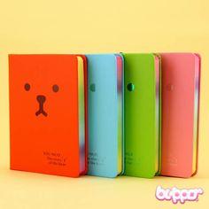 Colorful Bear Notebook - Small - Stationery   Blippo.com - Japan & Kawaii Shop
