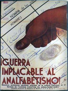Republic propaganda poster | Spanish civil war 1936/39 #Afiches #Carteles #Spain @deFharo Spanish War, Talk To The Hand, Revolutionaries, Looking Back, Blog, Poster, War, Frases, Political Posters
