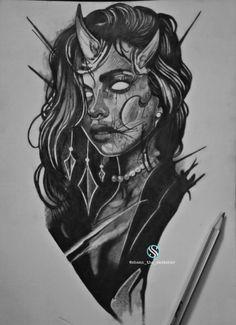 Rose Tattoos For Men, Tattoos For Guys, Realistic Sketch, Girl Skull, Sketchers, Dark Art, Blackwork, Drawing Ideas, Stencils