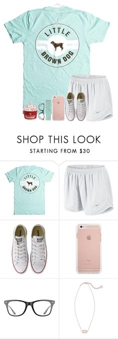 """{+rtd} I fricking love coldstone ice cream"" by mmadss ❤ liked on Polyvore featuring NIKE, Converse, Ray-Ban and Kendra Scott"