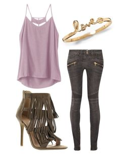 """"""""""" by alexaxbrun ❤ liked on Polyvore featuring Balmain and RVCA"""