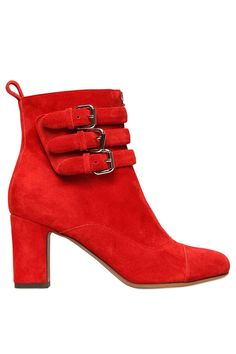 Tabitha Simmons 70MM Nash Suede Buckle Ankle Boots, $969, available at LUISAVIAROMA.