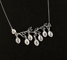 Personalized Family Charm Necklace  Modern by LuxeAdornments, $48.00