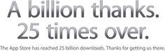 Apple's App Store Hits 25 Billion Downloads