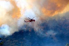 When a firestorm is heading your way. The Erickson Air-Crane is your only hope.
