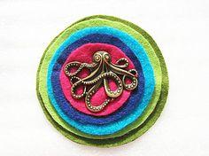 zuKa_sunny / octopus na vlnách radosti Octopus, Sunnies, Floral, Flowers, Handmade, Jewelry, Hand Made, Jewlery, Sunglasses