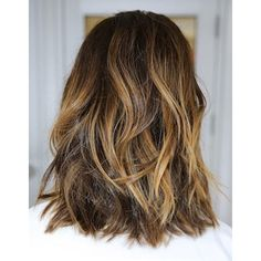 HAIR INSPIRATION WAVY OMBRE LOB/LONG BOB found on Polyvore