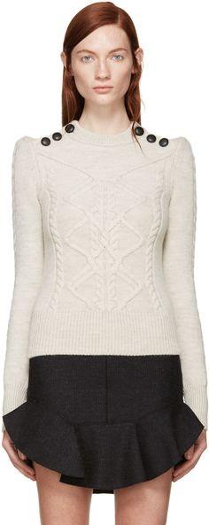 Isabel Marant - Beige Zermatt Dustin Sweater