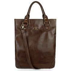 5629fbe772a2 Jela Dark Brown - large vertical unisex bag