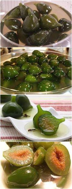 HA VOVÓ! DOCE DE FIGO! VEJA AQUI : > > > 2 kg de figos verdes 10 xícaras de açúcar 6 cravos-da-Índia 5 pedaços de canela. #RECEITA#BOLO#TORTA#DOCE#SOBREMESA#ANIVERSARIO#PUDIM#MOUSSE#PAVE#CHEESCAKE#CHOCOLATE#CONFEITARIA Pasta, Simple Syrup, No Bake Desserts, Sweet Recipes, Cucumber, Cupcake Cakes, Deserts, Food And Drink, Sweets