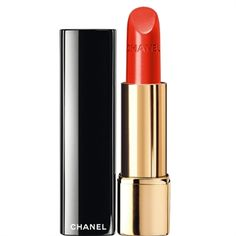 ROUGE ALLURE 108 Déterminée, Chanel: The make up trend for fall 2012 goes all purple shades: from the shrilling violet to the deepest one. For all make up brands. Best Red Lipstick, Orange Lipstick, Chanel Lipstick, Long Wear Lipstick, Best Lipsticks, Chanel Makeup, Nude Lipstick, Lipstick Shades, Lipstick Colors