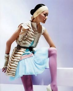 Color Blocking Fashion Lavender