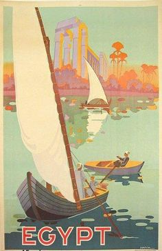 Sailing the Nile - Vintage Travel Poster