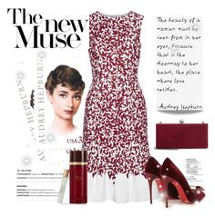 """""""The New Muse"""" by conch-lady ❤ liked on Polyvore featuring Oscar de la Renta, Christian Louboutin, Jimmy Choo, audreyhepburn, polyore and thenewmuse"""