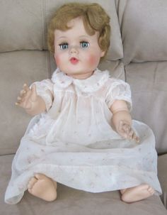 "Vintage 1950's 21"" American Character Toodles blonde green flirty eyes Baby Doll 