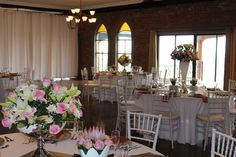 Using various centrepieces can create an element of fun to your wedding.  www.heaweddings.co.za